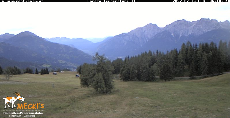 Webcam Zettersfeld Faschingalm - Livepicture and weather in the skiing area Zettersfeld
